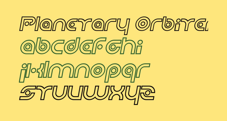Planetary Orbiter Outline Bold Italic