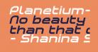 Planetium-X Bold Italic Demo