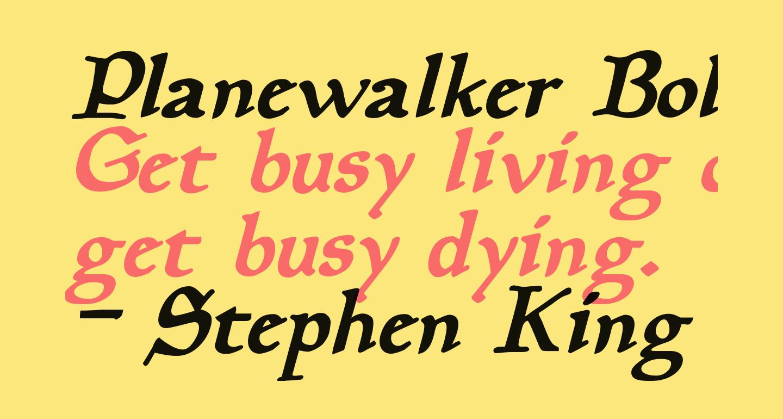 Planewalker Bold Italic