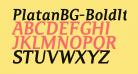 PlatanBG-BoldItalic