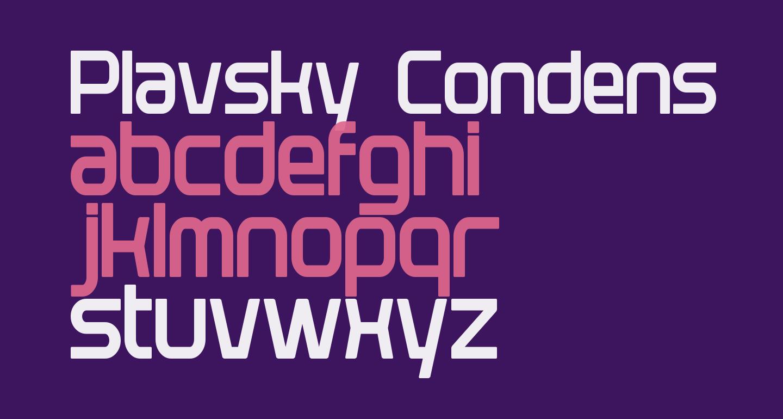 Plavsky Condensed