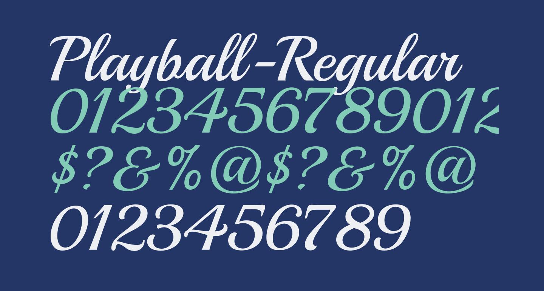 Playball-Regular