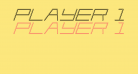 Player 1 Up 3D Italic