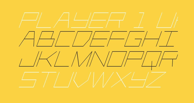Player 1 Up Condensed Italic