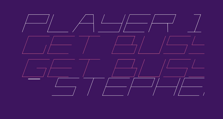 Player 1 Up Light Italic