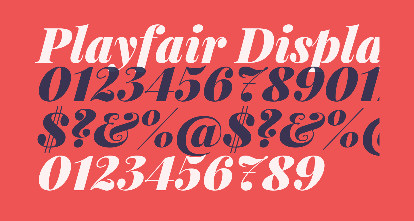 Playfair Display Black Italic