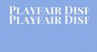 Playfair Display SC Bold