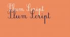 Plum Script