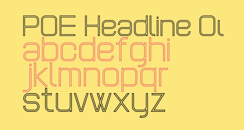 POE Headline Outline Regular
