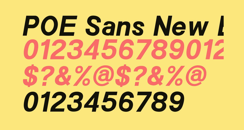 POE Sans New Bold Italic