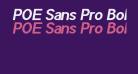 POE Sans Pro Bold Italic
