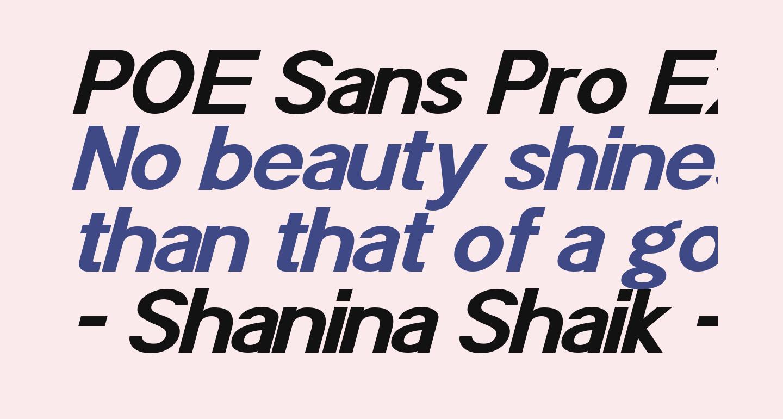 POE Sans Pro Expanded Bold Italic