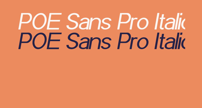 POE Sans Pro Italic
