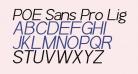 POE Sans Pro Light Italic