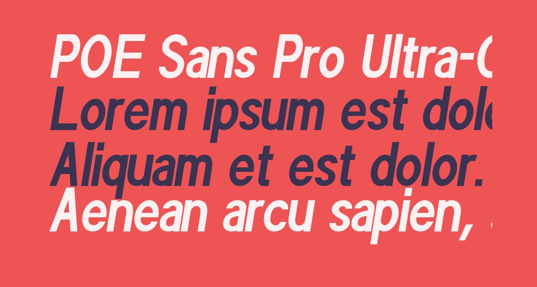POE Sans Pro Ultra-Condensed Bold Italic