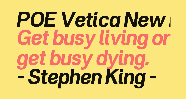 POE Vetica New Bold Italic