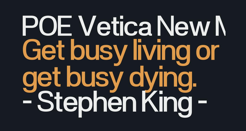 POE Vetica New Medium