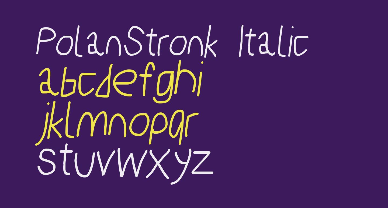 PolanStronk Italic