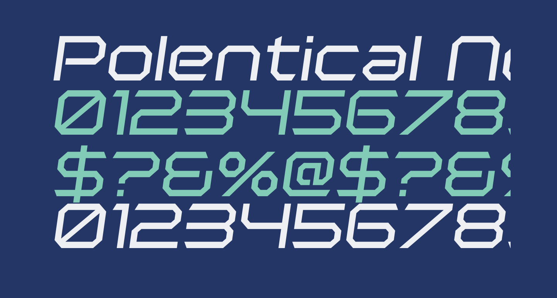 Polentical Neon Italic