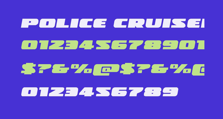 Police Cruiser Expanded Italic