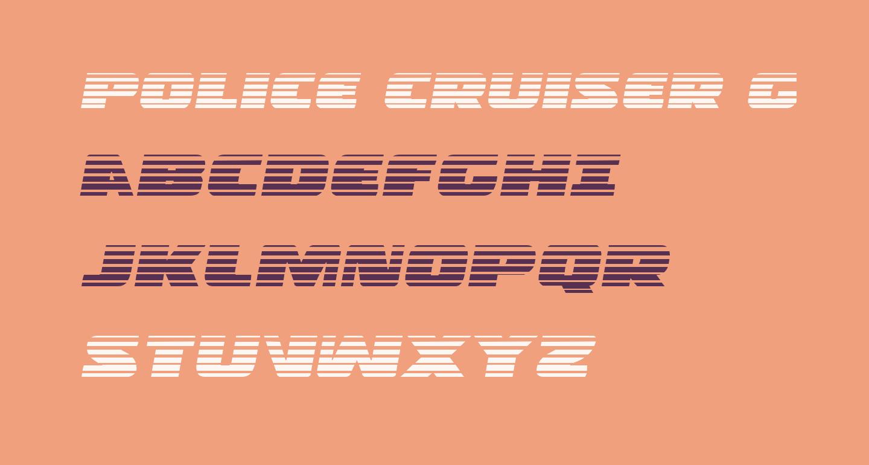 Police Cruiser Gradient Italic