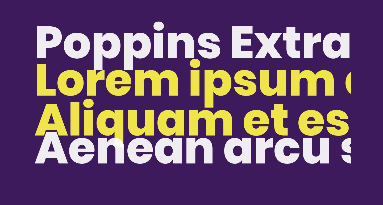 Poppins ExtraBold
