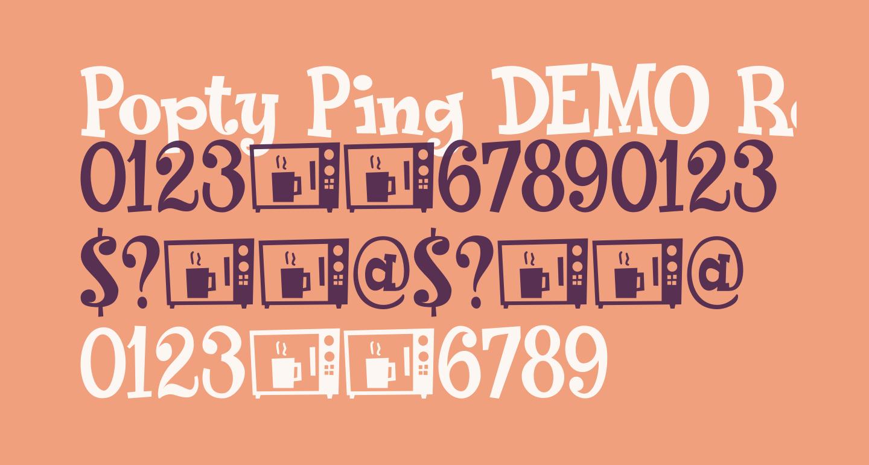 Popty Ping DEMO Regular