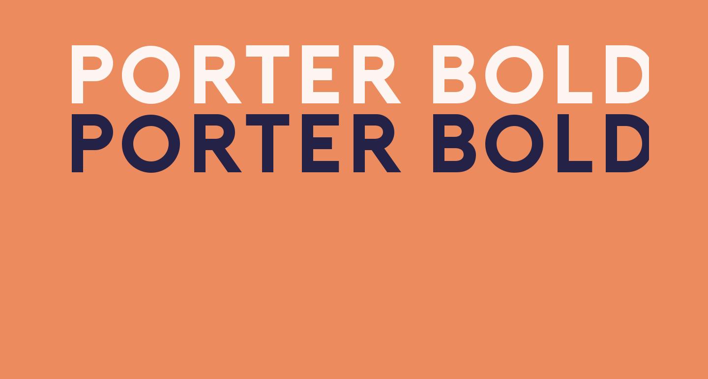 Porter Bold DEMO