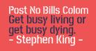 Post No Bills Colombo Bold