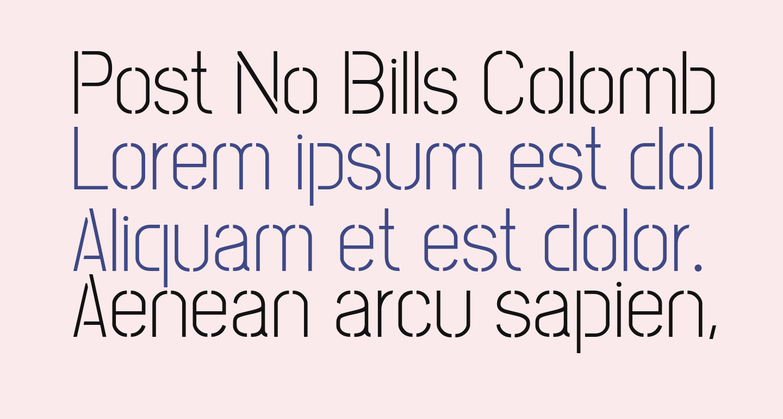Post No Bills Colombo Light
