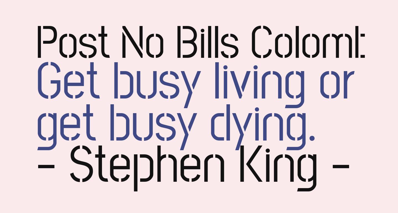 Post No Bills Colombo Medium