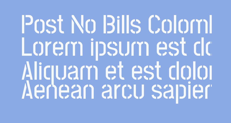 Post No Bills Colombo SemiBold