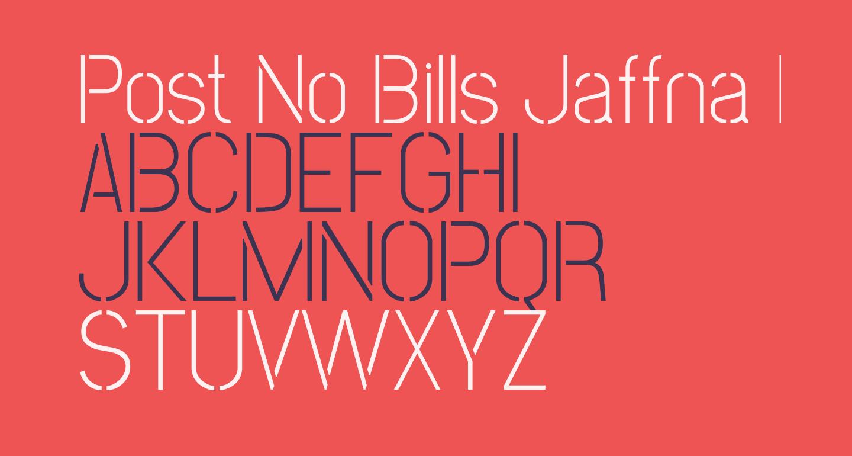 Post No Bills Jaffna Light