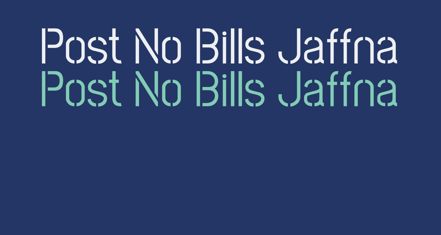 Post No Bills Jaffna Medium