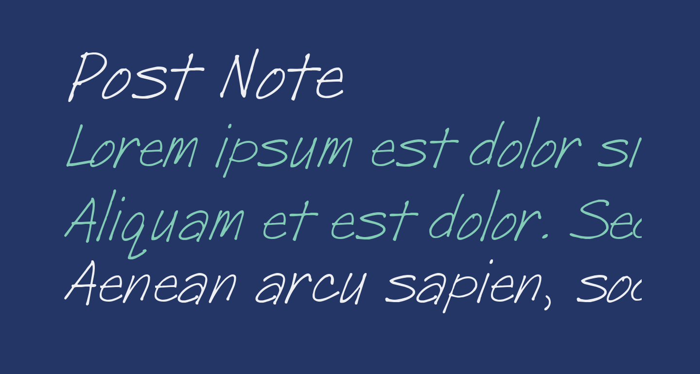 Post Note