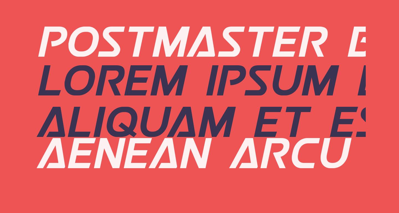 Postmaster Bold