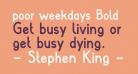 poor weekdays Bold