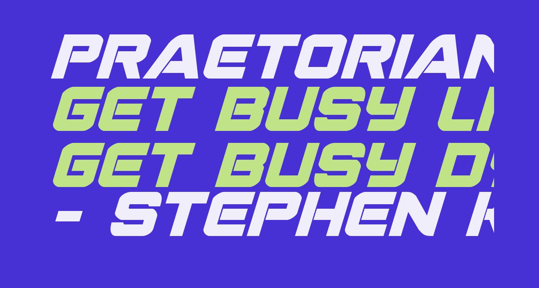 Praetorian Bold Italic