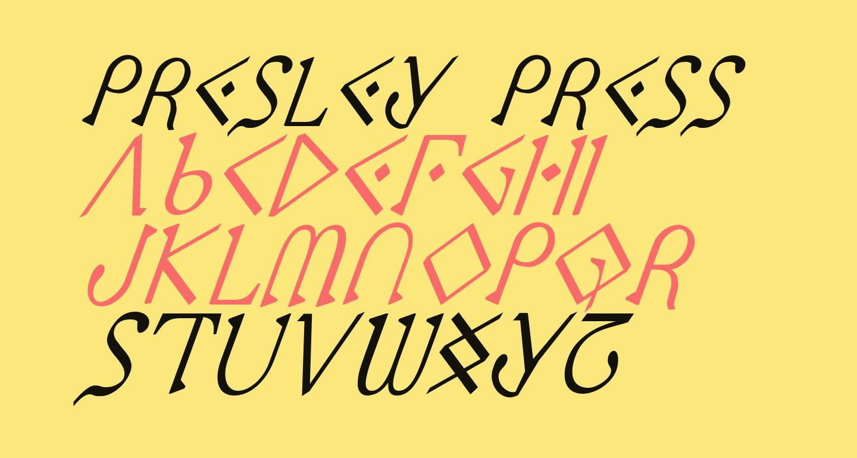 Presley Press CondItal