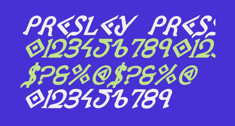 Presley Press ExtraBold Ital
