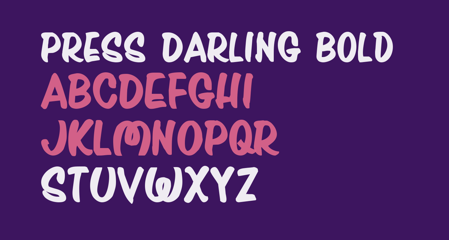 Press Darling Bold