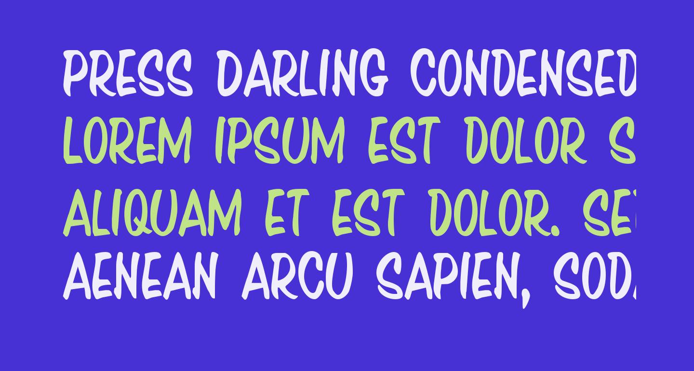 Press Darling Condensed