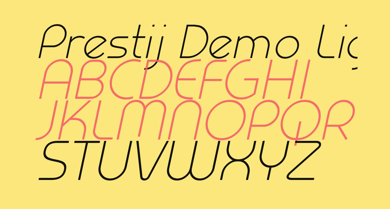 Prestij Demo Light Italic
