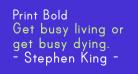 Print Bold