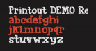 Printout DEMO Regular