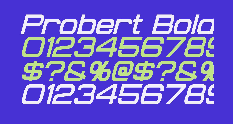 Probert Bold Italic