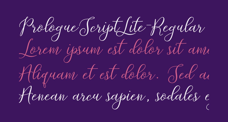 PrologueScriptLite-Regular