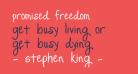 Promised Freedom