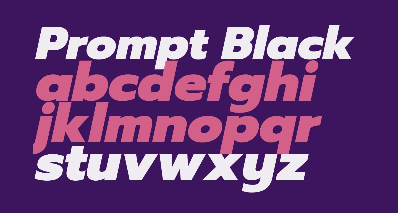 Prompt Black Italic