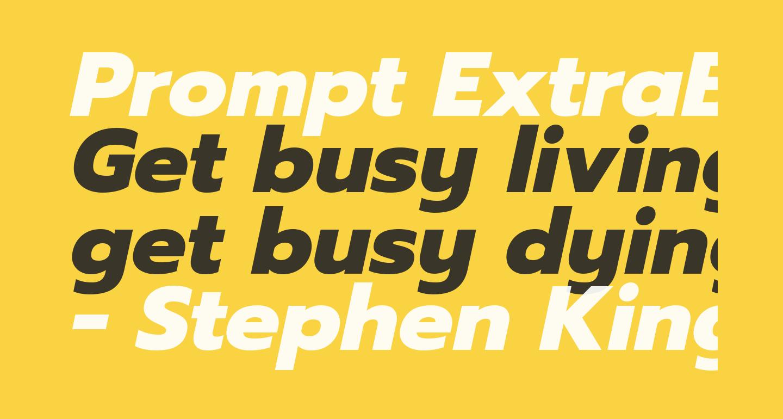 Prompt ExtraBold Italic